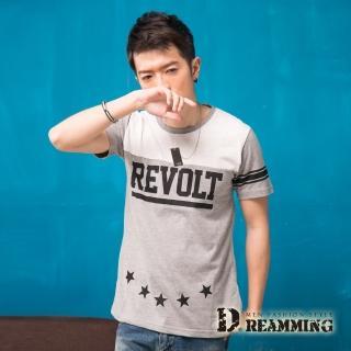 【Dreamming】韓系街頭潮流STAR圓領短T(共二色)