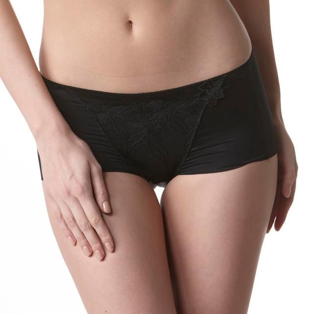 【LADY】安布羅莎系列 機能調整型 中腰平口褲(魅惑黑)