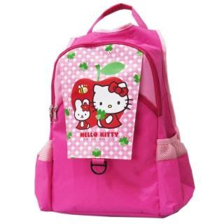 【imitu 米圖】凱蒂貓Hello Kitty 雙層休閒書背包_apple