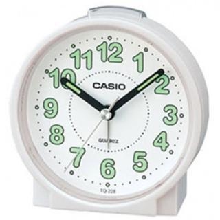 【CASIO 卡西歐】桌上型指針鬧鐘-白(TQ-228-7DF)