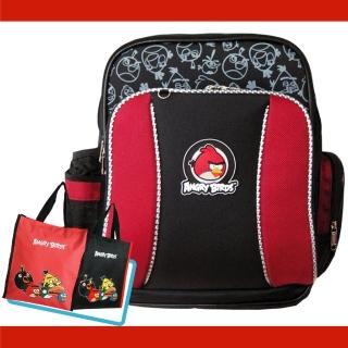 【Angry Birds憤怒鳥】1+1MIT舒壓護脊書包+直立式手提袋(AB1)