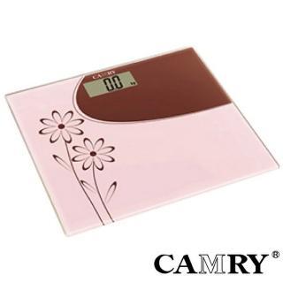 【CAMRY】花漾時尚數位體重計(輕薄型)