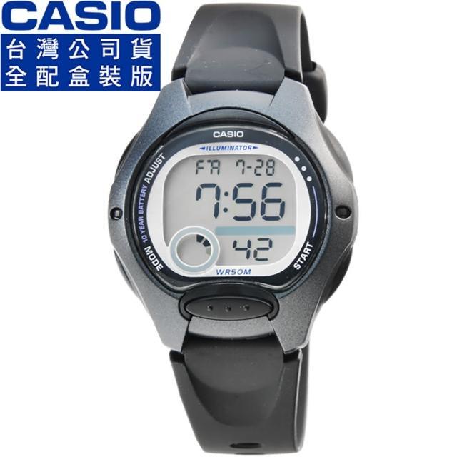 【CASIO】卡西歐鬧鈴多時區兒童電子錶-黑(LW-200-1B 全配盒裝)