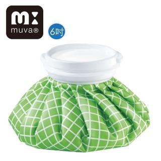 【muva】冰熱雙效水袋(6吋_綠格紋)