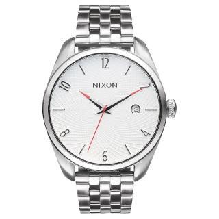 【NIXON】THE BULLET CHRONO先鋒網紋腕錶-白x銀(A418100)