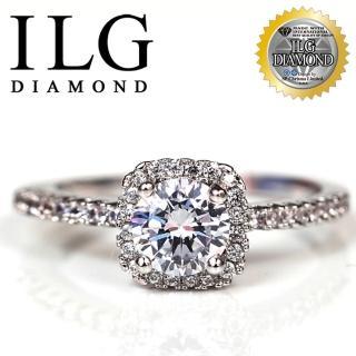 【ILG】八心八箭戒指-RI054-視覺方塊款 主鑽約75分 獨特人氣款(戒指)