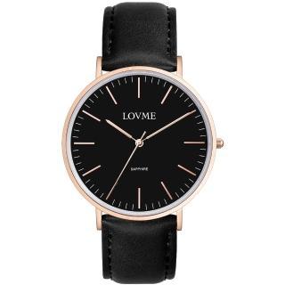 【LOVME】城市簡約風婉錶-IP玫-黑x黑帶/41mm(VL0012M-43-341)