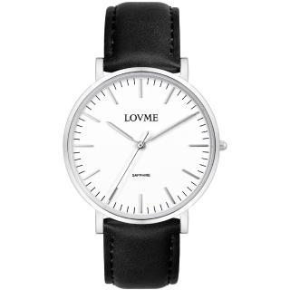 【LOVME】城市簡約風婉錶-白x黑帶/38mm(VL0012B-23-221)