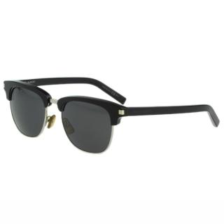 【Saint Laurent Paris】-時尚太陽眼鏡(黑+銀)