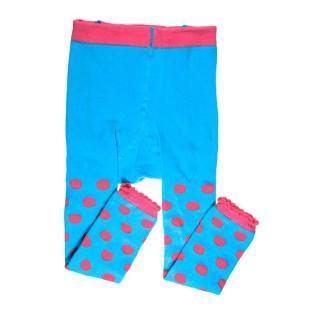 【美國 juDanzy】內搭褲襪_藍色粉點點(954)