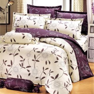 【艾莉絲-貝倫】花香樂譜(6x7呎)四件式雙人特大(100%純棉)薄被套床包組(米色)