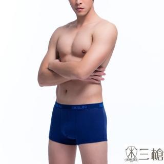 【三槍牌】時尚經典純棉型男彈力棉平口褲(4件組隨機取色)