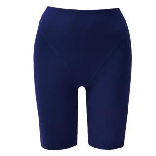 【思薇爾】舒曼曲現系列64-82素面高腰長筒束褲(經典藍)