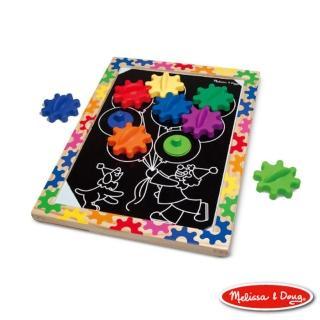 【美國瑪莉莎 Melissa & Doug】10面磁力齒輪遊戲板