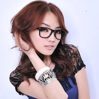 【Lady c.c.】普普風原色設計師款膠框眼鏡(黑)