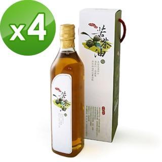 【康健生機】苦茶油x4瓶(520ml/瓶)