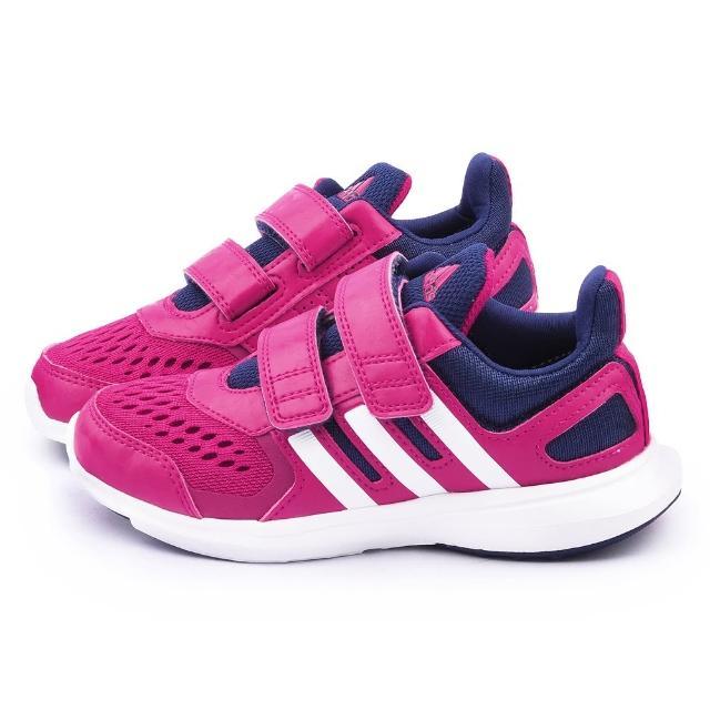 【Adidas】中大童 輕量透氣運動跑鞋(S83004-桃)