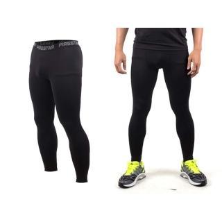 【FIRESTAR】男機能緊身長褲-慢跑 路跑 與NIKE PRO同版型 黑(N3805-10)
