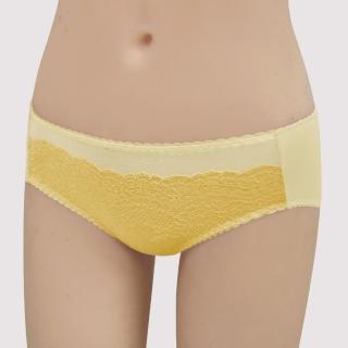 【瑪登瑪朵】15AW-我罩妳提托  低腰寬邊三角萊克褲(釉彩黃)