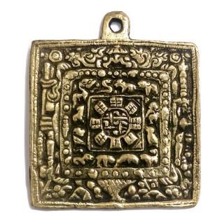 【十相自在】5.8公分 手工銅製-銅色(九宮八卦銅板)