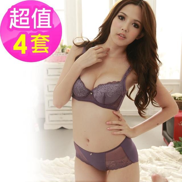 【魔莉莎】性感曲線蕾絲機能胸罩4套組(B053)
