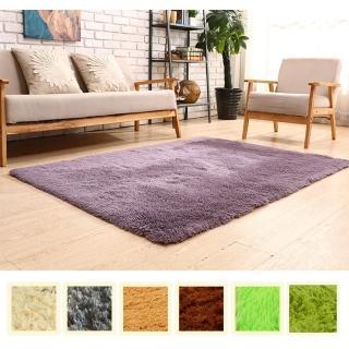 【幸福揚邑】舒壓長毛羊絲絨超軟防滑吸水地毯-共七色(140x200cm)