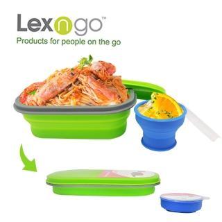 【Lexngo】可折疊午餐組-小-580ml(餐盒 環保 便當盒 折疊 野餐)