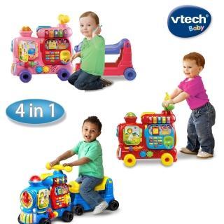 【Vtech】4合1智慧積木學習車(3色可選)