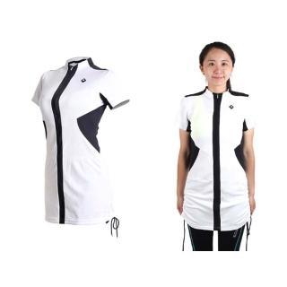 【SOOMOM】SOGK 女伊奧文連身裙-短袖車衣 單車 自行車 白黑(1292302)