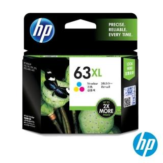 【HP】NO.63XL 原廠彩色墨水匣(F6U63AA/高容量)