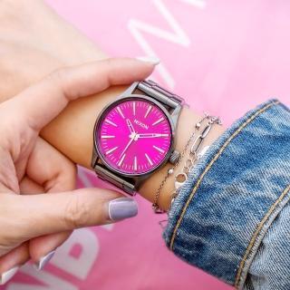【NIXON】THE SENTRY 38 SS 精品潮流設計指針錶--桃紅(A450-2096)