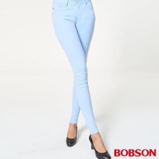 【BOBSON】女款粉彩色套染緊身褲(8069-50)