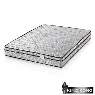 【金鋼床墊】三線高級緹花布加強護背型3.0硬式彈簧床墊-雙人特大6x7尺