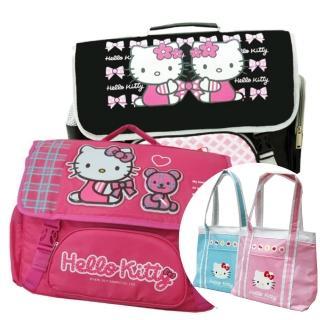 【imitu 米圖】Hello Kitty 凱蒂貓 橫式書背包+保溫保冷袋(1+1組合品)