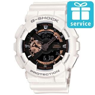 【CASIO】G-SHOCK玫瑰金齒輪概念錶(GA-110RG-7A)