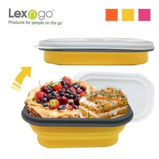 【Lexngo】可折疊快餐盒小-580ml(餐盒 環保 便當盒 折疊 野餐)