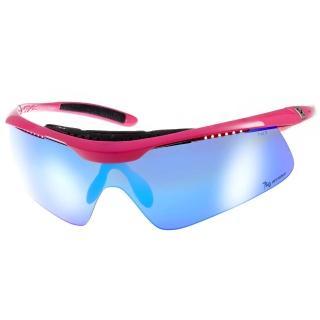 【720 運動太陽眼鏡】飛磁換片系列水銀鏡面款眼鏡(黑-桃紅#720B336 C03)