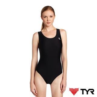 【美國TYR】女用連身三角黑色訓練款泳裝Solid Female Maxback(台灣總代理)