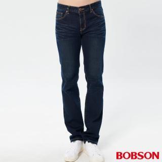 【BOBSON】男款保暖低腰直筒褲(1768-53)