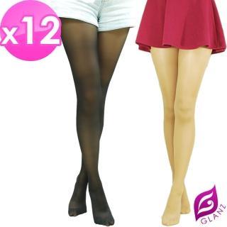 【GLANZ 格藍絲】70D 小惡魔防勾纖腿彈性絲襪x12雙組(黑/膚任選)