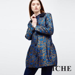 【ICHE 衣哲】提花花版連身外套