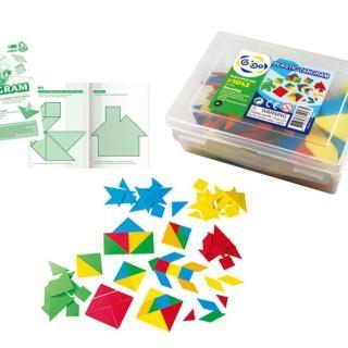 【智高 GIGO】教具系列 七巧板〈5色*3 套/盒〉 #1043