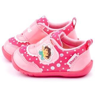 【童鞋城堡】朵拉 小童 小碎花學步鞋【零碼降價】(DR87023-粉)