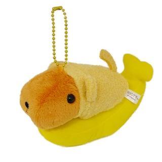 【Kapibarasan】水豚君猴年變裝公仔吊飾(香蕉水豚君)