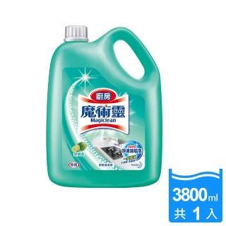 【魔術靈】廚房清潔劑_量販瓶3800ml(萊姆香)