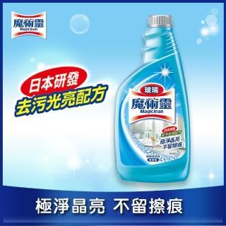 【魔術靈】玻璃清潔劑更替瓶(500ml)/