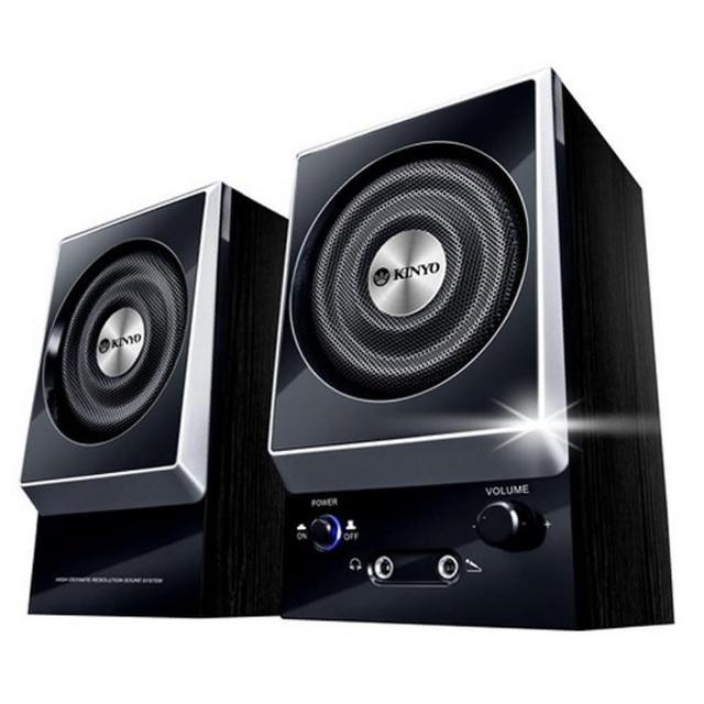 【KINYO】二件式全木質立體擴大音箱(KY-1007)