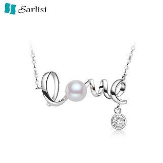 【Sarlisi】LOVE鍾愛一生珍珠項鍊(白色、粉色、紫色)
