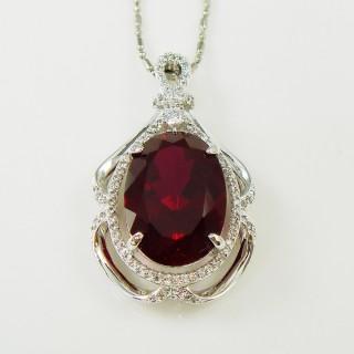 【Celosa珠寶】唯一的愛紅寶墜鍊