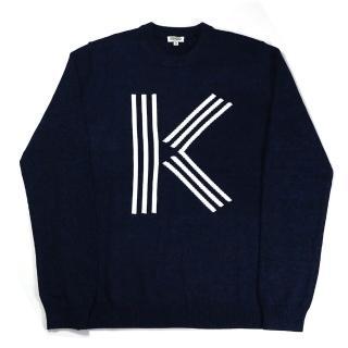 【KENZO】k LOGO長袖上衣(深藍)